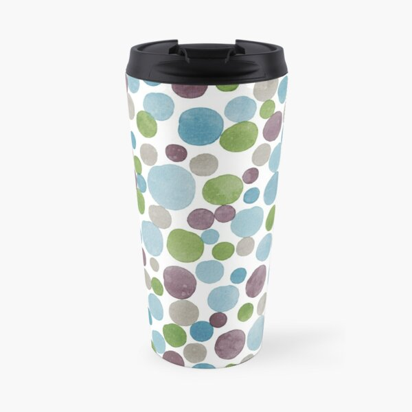 Watercolor bubbles Travel Mug