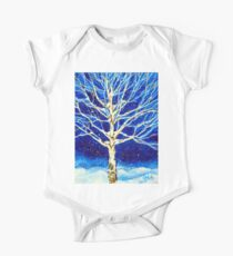 Blanket of Stillness Tree Aspen Winter Snow Rocky Mountain Snowy Snowing Night Blue White Peace Peaceful Tranquil Calm Quiet   Kids Clothes