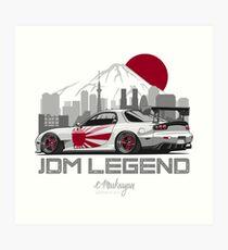 RX7. JDM Legend Art Print