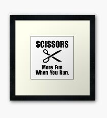 Scissors Fun Run Framed Print