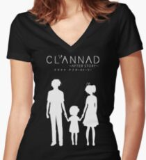 CLANNAD ~After Story~ (White Edition) Women's Fitted V-Neck T-Shirt
