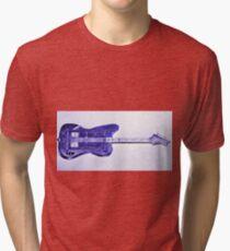 Blue Bass Guitardis Tri-blend T-Shirt