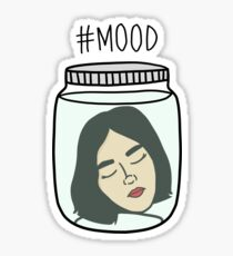 HIPSTER : MOOD LOST IN THOUGHTS Sticker