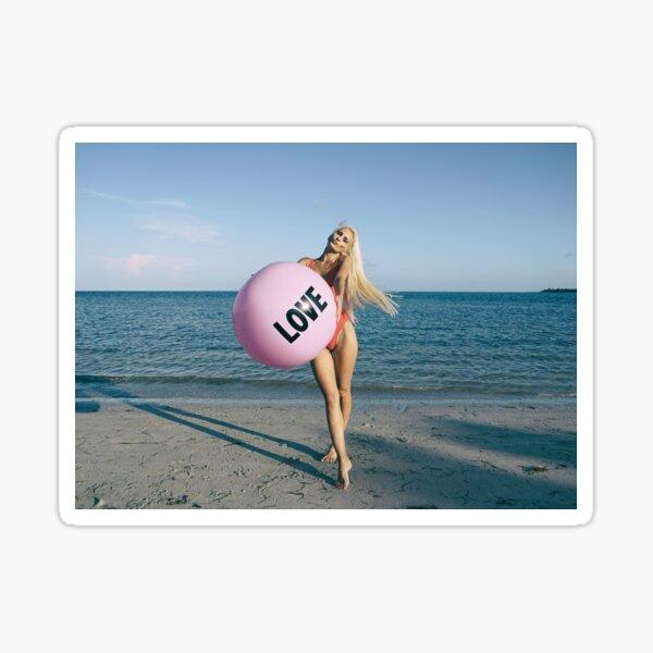 WOMEN HAVING FUN ON BEACH Sticker
