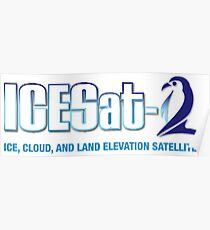 ICESat-2 Logo Optimized for Light Colors Poster