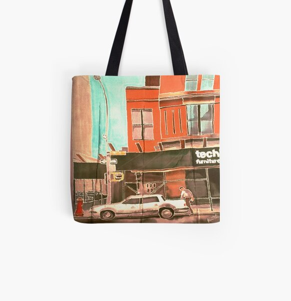 Franklin St All Over Print Tote Bag