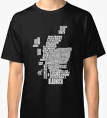 Distillery Map of Scotland Classic T-Shirt