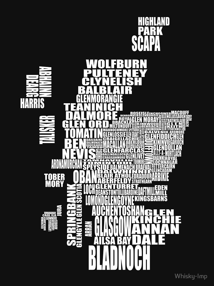 Distillery Map Scotland on