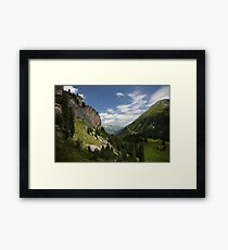 View from Hintertux, Alps Framed Print