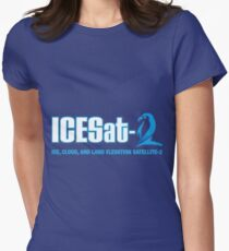 ICESat-2 Logo Optimized for Dark Colors Women's Fitted T-Shirt