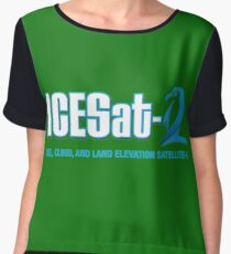 ICESat-2 Logo Optimized for Dark Colors Women's Chiffon Top