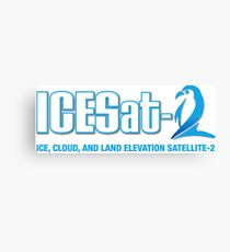 ICESat-2 Logo Optimized for Dark Colors Canvas Print