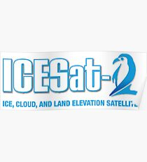 ICESat-2 Logo Optimized for Dark Colors Poster