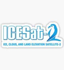 ICESat-2 Logo Optimized for Dark Colors Sticker