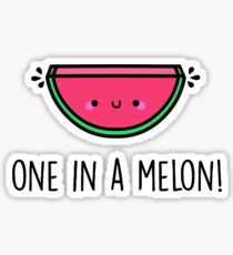 You're ONE in a MELON!  Sticker