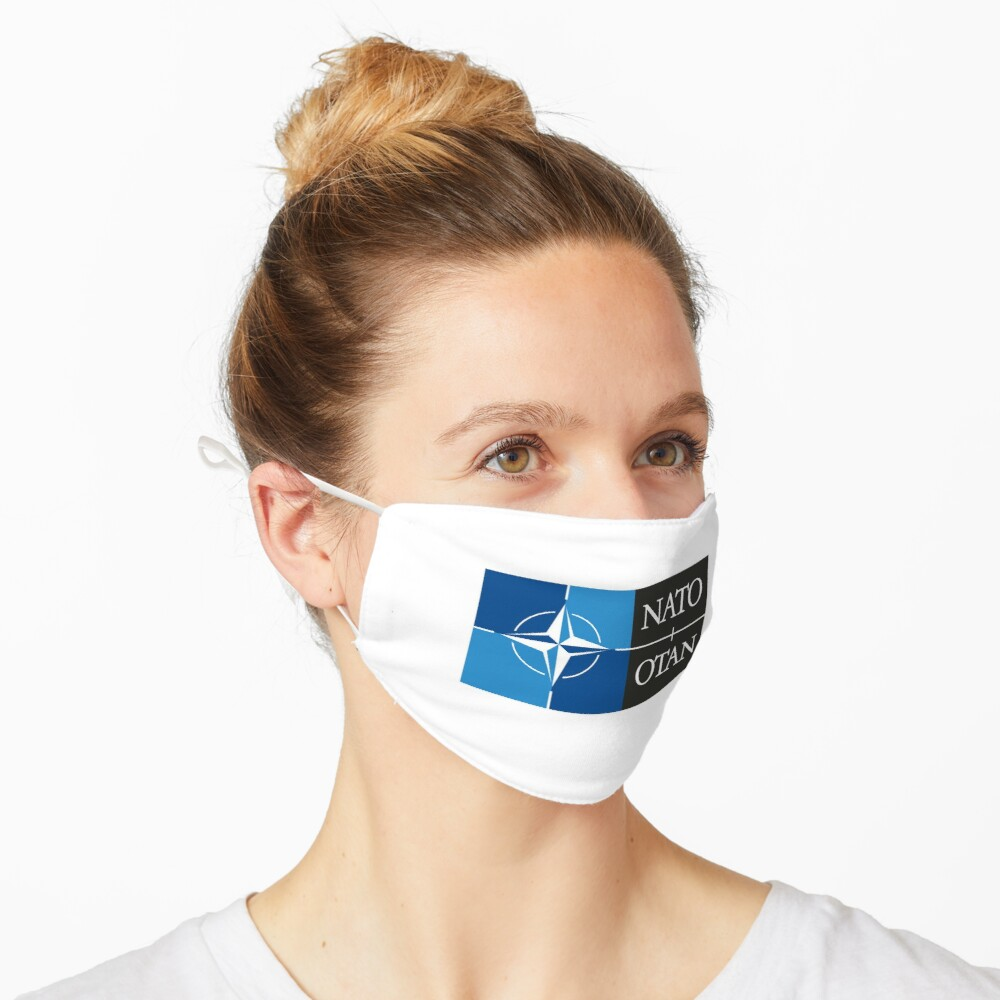 NATO. Logo of the North Atlantic Treaty Organisation, North Atlantic Alliance. Mask