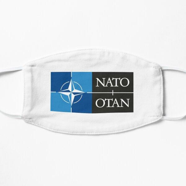 NATO. Logo of the North Atlantic Treaty Organisation, North Atlantic Alliance. Flat Mask