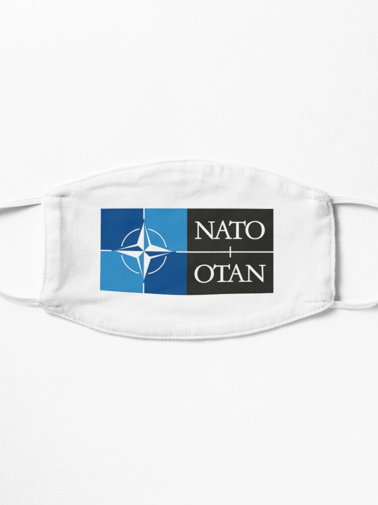 Alternate view of NATO. Logo of the North Atlantic Treaty Organisation, North Atlantic Alliance. Mask