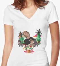 Snoop Dogg tee  Women's Fitted V-Neck T-Shirt