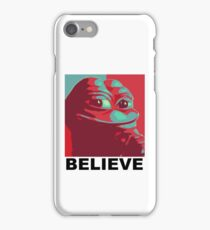 Pepe the Frog - Believe iPhone Case/Skin