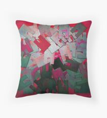 Random One Red Throw Pillow
