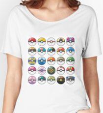 Pokemon Pokeball White Women's Relaxed Fit T-Shirt