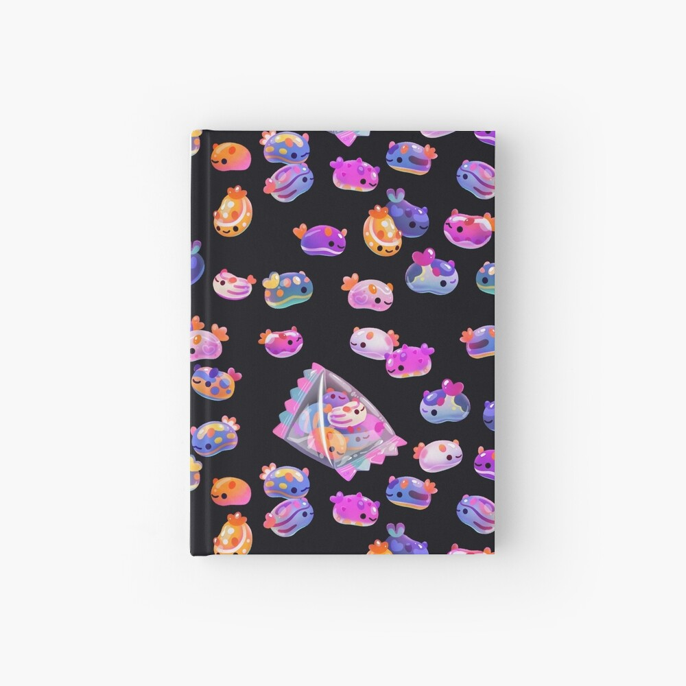 Jelly bean sea slug - dark Hardcover Journal