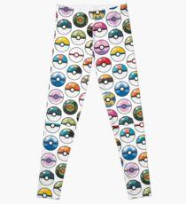 Pokemon Pokeball White Leggings