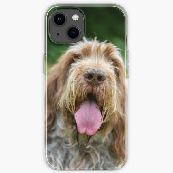 Happy Panting Spinone iPhone Soft Case