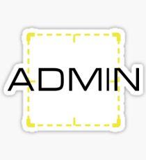 Admin Sticker