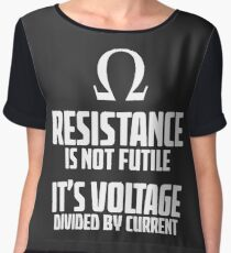 Funny Electrician - Physics T Shirt Women's Chiffon Top