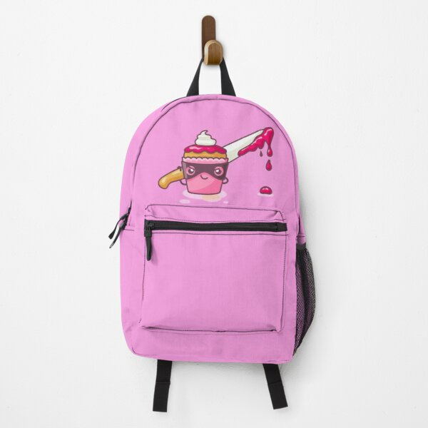 Cupcaked Crime Pink Cozy Murder Mystery Pun Cupcake Backpack
