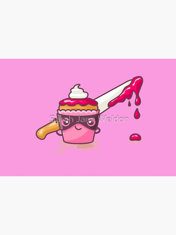 Cupcaked Crime Pink Cozy Murder Mystery Pun Cupcake by SarahRowsSolo