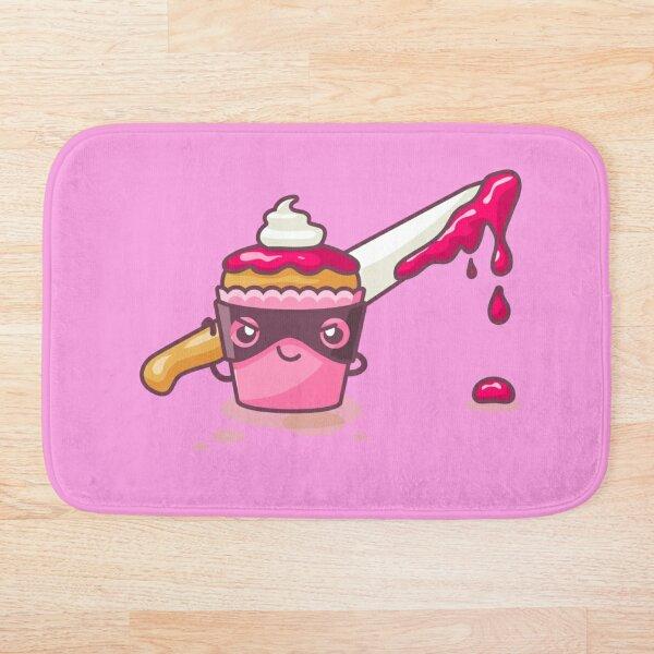 Cupcaked Crime Pink Cozy Murder Mystery Pun Cupcake Bath Mat