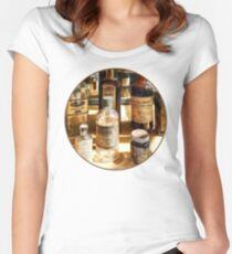 Medicine Bottles in Glass Case Women's Fitted Scoop T-Shirt