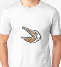 Angry Pelican Head Shouting Retro Unisex T-Shirt