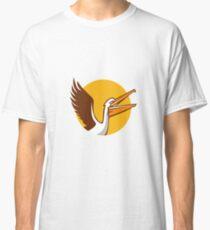 Pelican Flying Up Circle Retro Classic T-Shirt