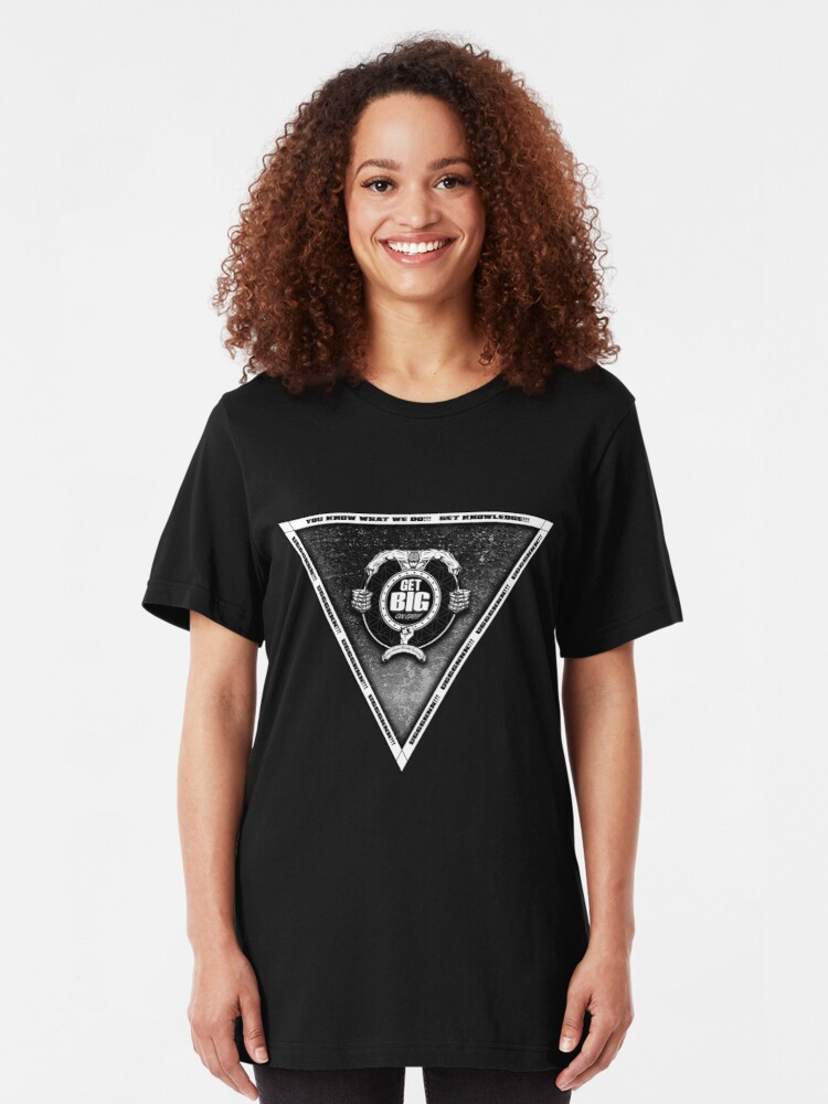 Alternate view of Get Big Pyramid Flip - BLACK Slim Fit T-Shirt