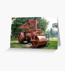 Abandoned Steam Roller Greeting Card