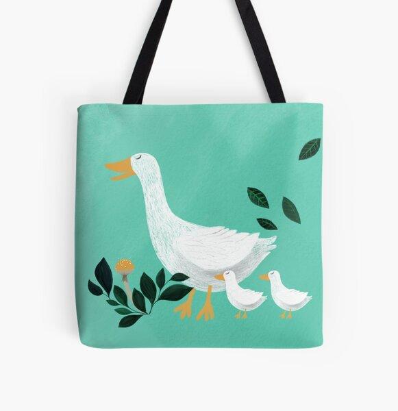 mother goose illustration All Over Print Tote Bag
