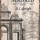 Vintage Travel Poster Madrid by Debbie DeWitt