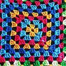 Granny Crochet Throw by Trish Peach