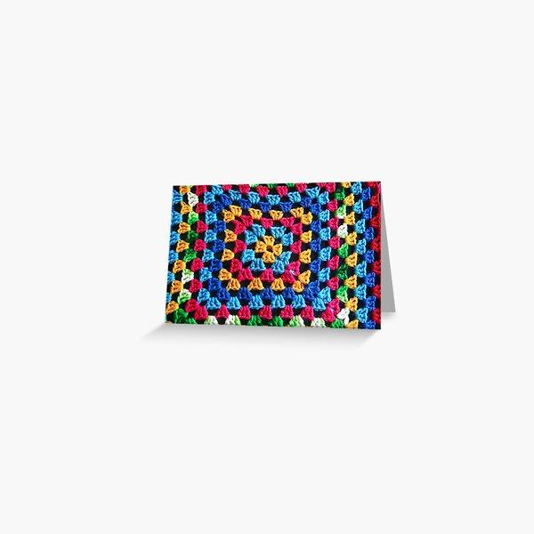 Granny Crochet Throw Greeting Card