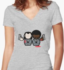 Jules and Vincent- Pulp Fiction Women's Fitted V-Neck T-Shirt