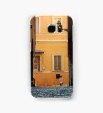 Streetscape in Orange  Samsung Galaxy Case/Skin
