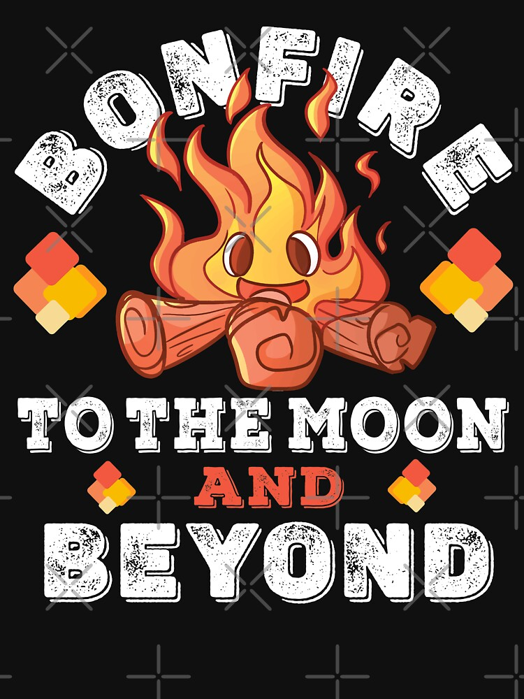 Bonfire Coin To The Moon and Beyond For Bonfire Crypto by CWartDesign