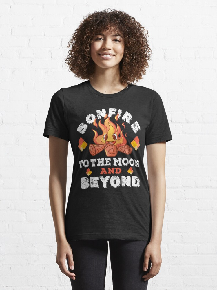 Alternate view of Bonfire Coin To The Moon and Beyond For Bonfire Crypto Essential T-Shirt
