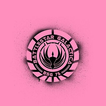 Battlestar Galactica Grunge - Pink Line by lovecrafted