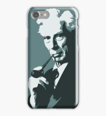 Thinkers - Bertrand Russell (blue) iPhone Case/Skin