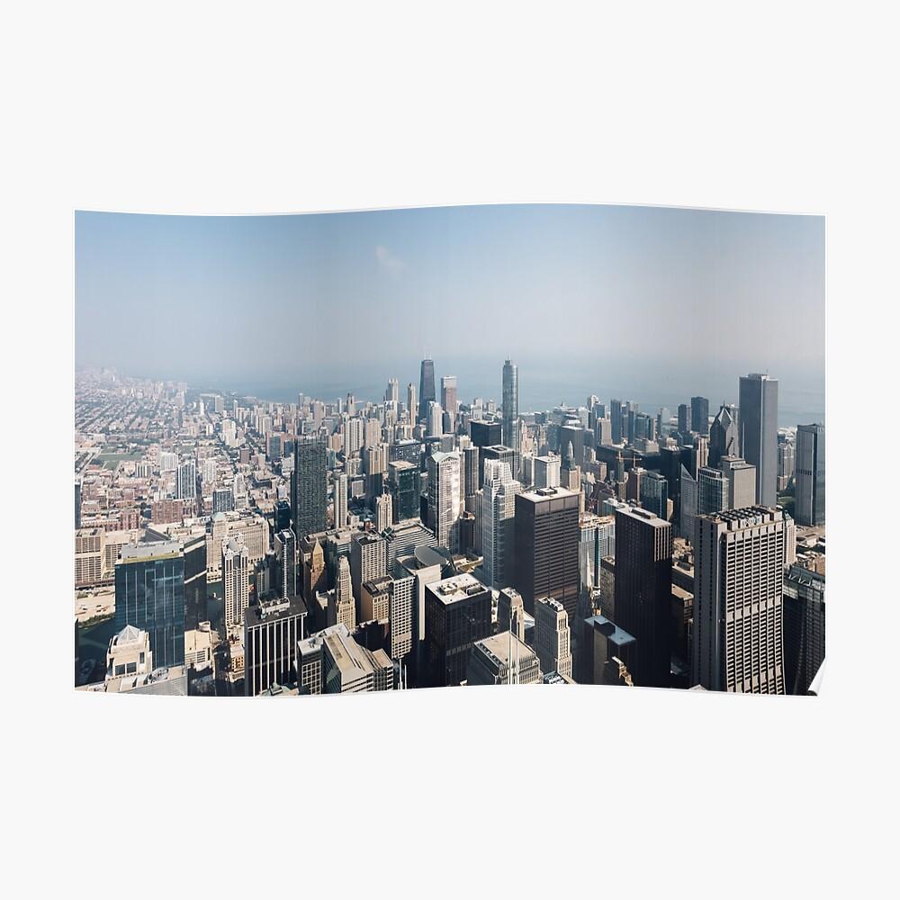 Hoch über Chicago (Farbe) Poster